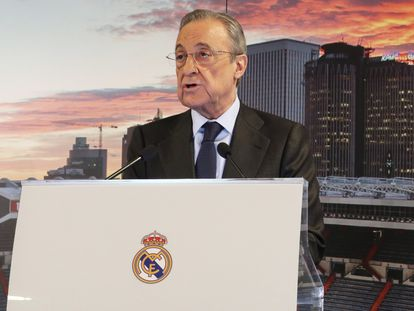 Florentino Pérez, presidente del Real Madrid y de la recién creada Superliga europea.