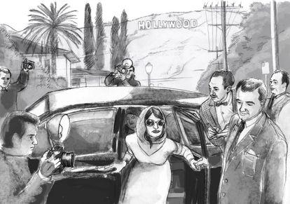 Una viñeta del 'storyboard' de 'La reina de España', obra de Clara León.