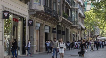 Paseo de Gracia, en Barcelona.