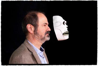 Juan Villoro, el sábado durante el Hay Festival Querétaro antes de la entrevista.