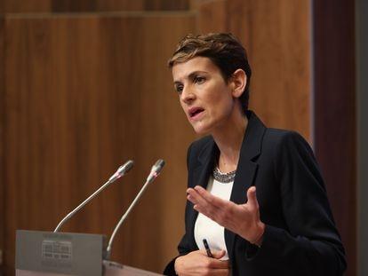 María Chivite, presidenta del Gobierno de Navarra.