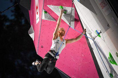 La eslovena Janja Garnbret en su victoria del Mundial de escalada el pasado 3 de julio.