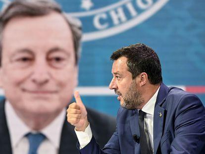 Matteo Salvini, el pasado martes en un programa de la televisión italiana.