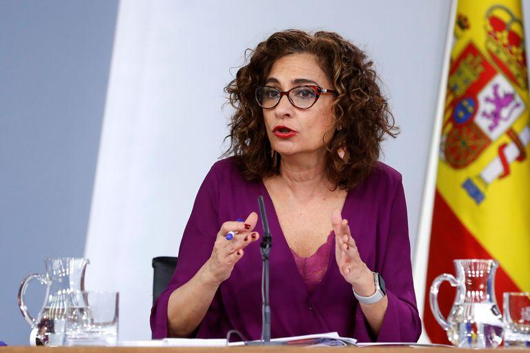 La ministra de Hacienda y portavoz del Ejecutivo, María Jesús Montero, durante la rueda de prensa posterior a la reunión del Consejo de Ministros.