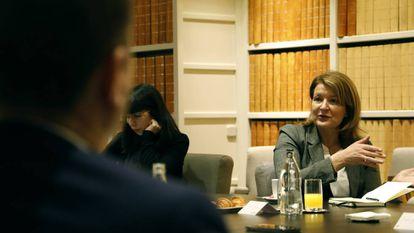 Rosa Kariger, Directora Global de Ciberseguridad del grupo Iberdrola, en un momento del desayuno informativo organizado por EL PAÍS RETINA y patrocinado por Accenture.