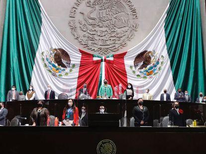Debate en la Cámara de Diputados de México de la ley que reforma la industria eléctrica.