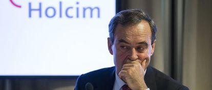 Bruno Lafont, consejero delegado de Lafarge, el pasado lunes en Zurich