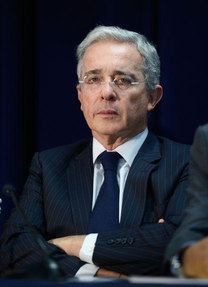 El expresidente de Colombia Álvaro Uribe, durante una conferencia en Miami (Florida) en mayo de 2016.
