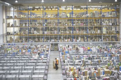 El almacén de Amazon en San Fernando de Henares (Madrid)