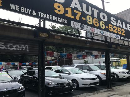 Negocio de compraventa de automóviles en Brooklyn (Nueva York), en septiembre pasado.