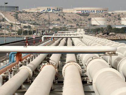 Terminal petrolífera de la isla de Jarg, al suroeste de Irán.