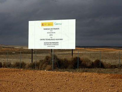 Parcela en la que está previsto levantar el almacén de residuos nucleares.