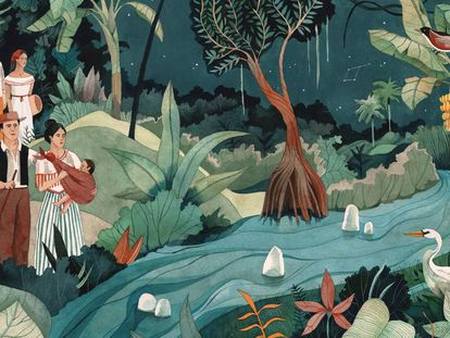 Ilustración para el primer capítulo de 'Cien años de soledad'.