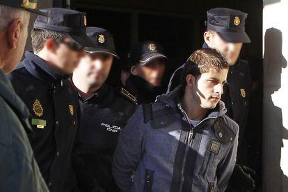 Miguel Carcaño, tras declarar en los juzgados sevillanos en 2011.