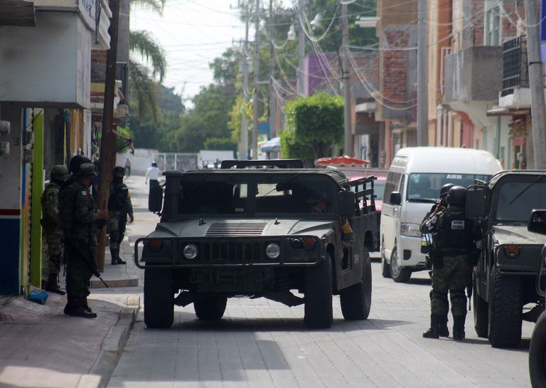 Members of the National Guard during the operation against El Marro in Guanajuato.