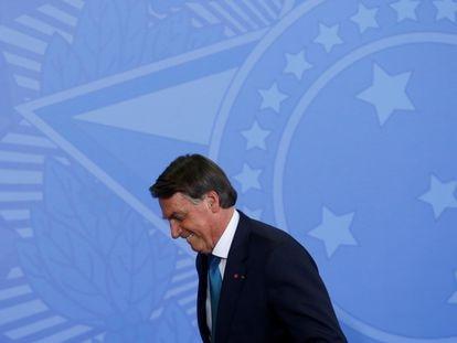 Bolsonaro sonríe en una ceremonia para recibir a atletas paralímpicos en el Palacio do Planalto el pasado 6 de octubre.