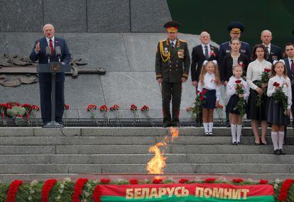 Lukashenko durante las celebraciones del día de la independencia de Bielorrusia, el 3 de julio en Minsk.