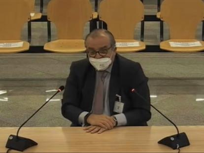 El abogado y empresario Santiago Lago Bornstein, durante su declaración en el caso de la caja b del PP, este lunes.