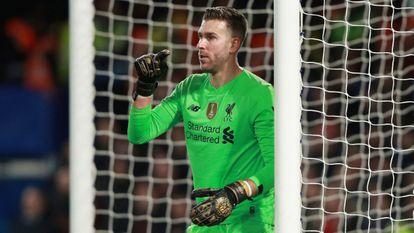 Adrián, en el partido ante el Chelsea en Stamford Bridge