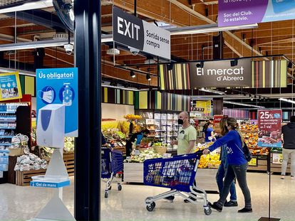 Un supermercado de Caprabo, el jueves pasado.
