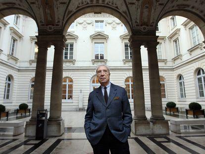 El escritor y crítico literario francés Mar Fumaroli en el Collège de France de París.