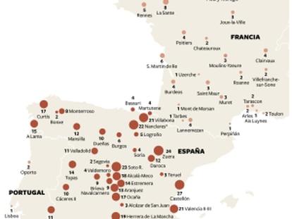 Gráfico de los presos de ETA.