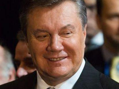 Viktor Yanukóvich, en la cumbre de Vilna.