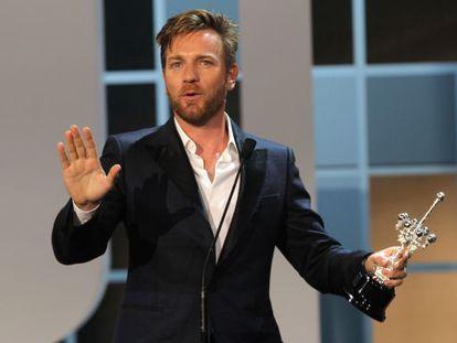 El actor Ewan McGregor recoge el Premio Donostia