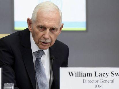 El director general de la Organización Internacional para las Migraciones, William Lacy Swing.