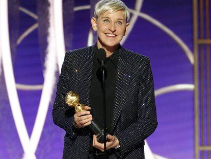 Ellen DeGeneres recoge el premio Carol Burnett.