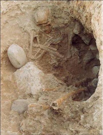 Restos de un hombre norteafricano enterrado cerca de la actual Madrid hace unos 4.000 años.