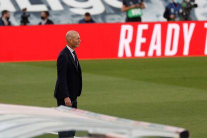 Zidane, este sábado en Valdebebas contra el Cádiz.