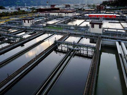 Planta de tratamiento de aguas en Sestao (Vizcaya).
