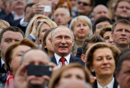 El presidente Putin este sábado en el aniversario de la fundación de Moscú.