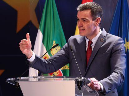 El presidente del Gobierno, Pedro Sánchez, presenta en Mérida el Plan de Recuperación, Transformación y Resiliencia de la Economía Española.