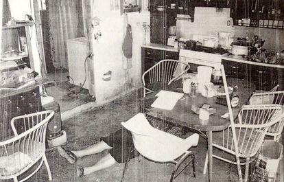 Escena del crimen de la familia de Ciudad Juárez.