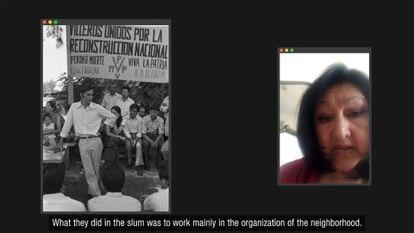 Alicia Vázquez recuerda el trabajo del Movimiento Villero Peronista.