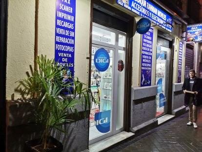 Una de las tiendas distribuidoras de Digi.