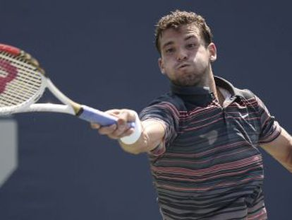Dimitrov, en su partido contra Sousa
