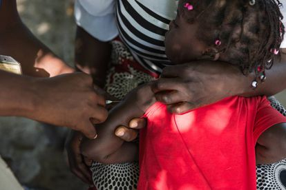 Campaña de vacunación en una zona rural de la provincia de Maputo (Mozambique) a principios de marzo.