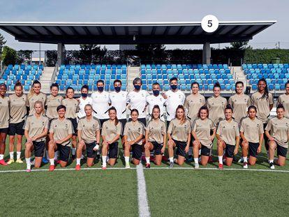 La plantilla del Real Madrid femenino, el pasado martes.