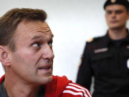 Alexéi Navalni, en agosto pasado, en Moscú.