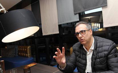 Cortina, durante la entrevista.