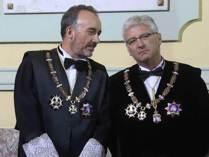 A la izquierda, Manuel Marchena, el magistrado pactado por PSOE y PP para presidir el CGPJ. En vídeo, continúa la polémica por el pacto entre el PP y PSOE para renovar el CGPJ.