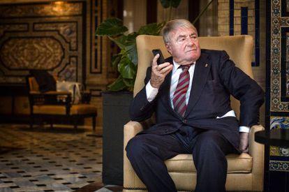 Claude Lanzmann, en Sevilla, adonde acudió a presentar 'El último de los injustos'.