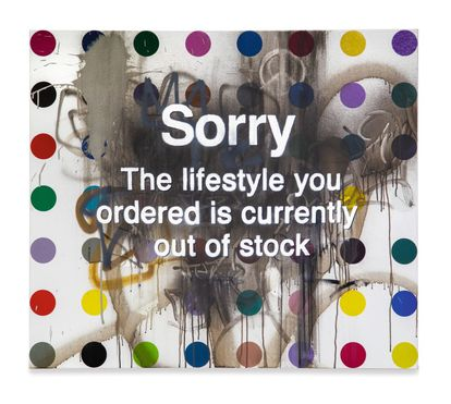 'Sorry The Lifestyle You Ordered Is Currently Out of Stock' de Damien Hirst y Banksy