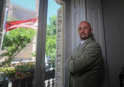 Janis Sarts, el 5 de julio de 2021 en la Embajada de Letonia en Madrid.