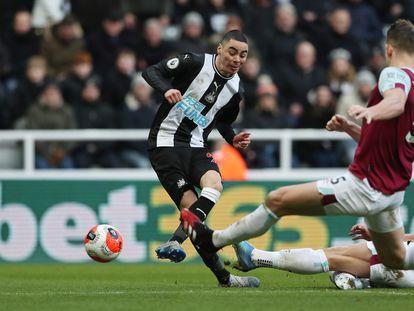Un partido del Newcastle en febrero.