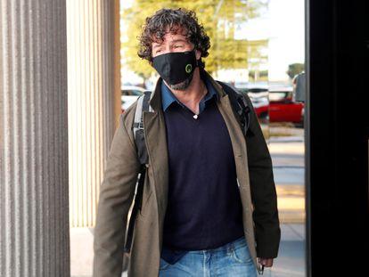 Nacho Palau, a su llegada a los juzgados de Pozuelo de Alarcón, en Madrid, en octubre.