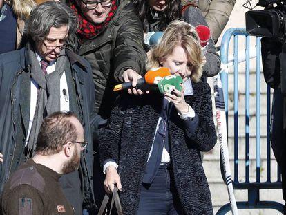Esperanza Aguirre, a la salida de la Audiencia Provincial de Madrid, la pasada semana.